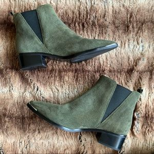 Marc Fisher Yale Green Suede Chelsea Boot
